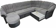 Polstermöbel-Set Calimero 1 mit Staukasten und Bettfunktion inkl. Sessel und Hocker - Staukasten: Links
