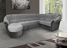 Polstermöbel-Set Calimero 1 mit Staukasten und Bettfunktion inkl. Sessel und Hocker - Staukasten: Rechts