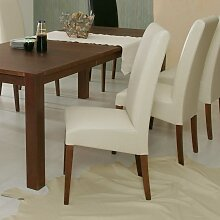 Polsterstuhl in Beige Buche Massivholz (2er Set)
