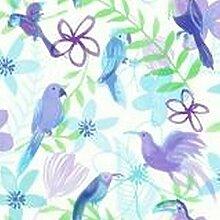 Poly Papagei Lila Tapete - Arthouse - Lila, 53cm breit x 1005cm lang