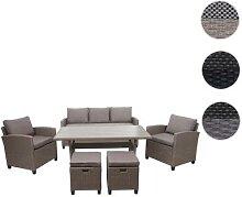 Poly-Rattan Garnitur HWC-E95, Garten-/Lounge-Set