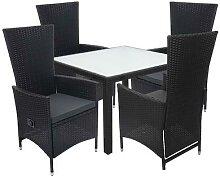 Poly-Rattan Garnitur HWC-F49, Garten-/Lounge-Set