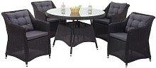 Poly-Rattan Garnitur HWC-F51, Garten-/Lounge-Set