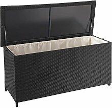 Poly-Rattan Kissenbox 570, Gartentruhe Auflagenbox