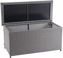 Poly-Rattan Kissenbox HHG-570, Gartentruhe