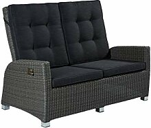 POLY RATTAN Luxus 2 Sitzer Lounge Rocking Sofa