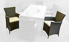 Poly Rattan Sitzgruppe Gartenmöbel 2 Stühle Garten Schwarz Polster Lagento