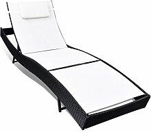 Poly Rattan Sonnenbett Gartenmöbel Sonnenliege Gartenlounge Gartenliege Lounge