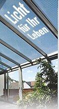 Polycarbonat Hohlkammerplatten 10 mm - klar - 4000 x 2100 x 10,0 mm (EUR 17,90/qm) Mindestbestellwert: Euro 100