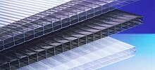Polycarbonat Hohlkammerplatten 16 mm - bronze - Dreifachsteg -3500 x 980 x 16,0 mm (EUR 22,90/qm) - Mindestbestellwert: Euro 100,00