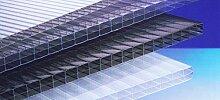 Polycarbonat Hohlkammerplatten 16 mm - klar - Dreifachsteg - 5000 x 2100 x 16,0 mm (EUR 21,90/qm) - Minstebestellwert: Euro 100,00