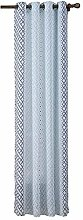Polyester Bambus Garn Stripe Printing 70% Schatten Fertigprodukt Fenster Punch Curtain Screening 1 Panel , 52*63in