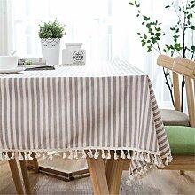 Polyester Baumwolle Tischdecke Rot Gestreifte