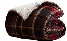 Polyester Braun gelb weiß rot Streifen Muster Einzel oder Doppel Einfache und moderne Heimtextilien Wolldecke 150X220cm