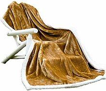 Polyester Braun wei? Muster Einzel oder Doppel verdicken Doppelschicht Einfache und moderne Heimtextilien Wolldecke 200 * 230cm