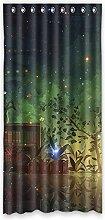 """Polyester-Custom lichtgeschützten-Fenster Vorhang für Schlafzimmer oder Wohnzimmer einem Stück, 132,1x 274,3cm Zoll über 132cm x 275cm, Polyurethan, e, 52""""""""x108"""