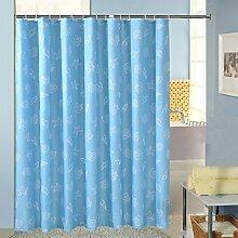 Polyester-Duschvorhang Dicker wasserdicht feuchtigkeitsspendende Badezimmer-Badezimmer-Decke (blau) ( Farbe : Blau , größe : 280*200cm )