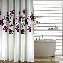 Polyester Duschvorhang ( Farbe : Weiß , größe : 80*200cm )