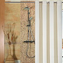 Polyester Duschvorhang (große Bohrung) ( Farbe : Beige , größe : 180*200cm )