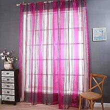 Polyester Garn geschnittene Blume Halbschattierung Wohnzimmer Schlafzimmer Das fertige Produkt Wear bar Fenster Vorhänge 1 Panel , rose , 200*270cm