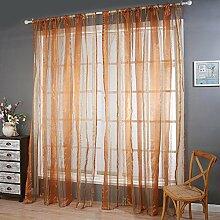 Polyester Garn geschnittene Blume Halbschattierung Wohnzimmer Schlafzimmer Das fertige Produkt Wear bar Fenster Vorhänge 1 Panel , orange , 100*270cm