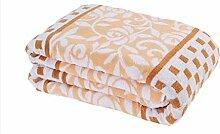 Polyester Gelb Muster Einzel oder Doppel Einfache und moderne Heimtextilien Wolldecke 200 * 230cm