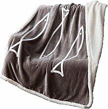 Polyester Grau Wei? Einfarbig Muster Single Baby Einfache und moderne Heimtextilien Wolldecke 130 * 150 cm