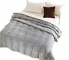 Polyester Graugelb Blumenmuster Einzel oder Doppel Einfache und moderne Heimtextilien Wolldecke 230 * 200cm