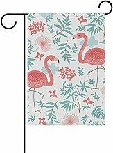 Polyester-jstel Home Pink Flamingo Leaf