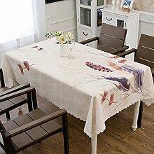 Polyester-rechteckige Tischdecke, waschbares