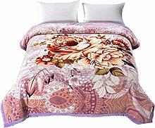 Polyester Rosa Blumenmuster Einzel oder Doppel Einfache und moderne Heimtextilien Wolldecke 230 * 200cm