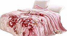 Polyester Rosa Blumenmuster Einzel oder Doppel Einfache und moderne Heimtextilien Wolldecke 200 * 240cm