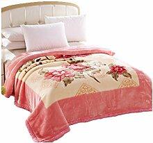 Polyester Rosa Gelb Blumenmuster Einzel oder
