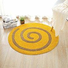 Polyester Runde Teppich Schlafmatten für Schlafzimmer untersuchen Wohnzimmer Kaffeetisch Pad ( Farbe : 2 , größe : 110*110cm )