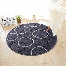 Polyester Runde Teppich Schlafmatten für Schlafzimmer untersuchen Wohnzimmer Kaffeetisch Pad ( Farbe : 3 , größe : 80*80cm )