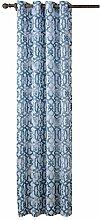 Polyester Slubby Garn Lichtdurchlässigkeit Druck 65% Schatten Stempel der Rom Bar Perforierte Vorhang Windows Vorhänge Valance 1 Panel , 55*102in