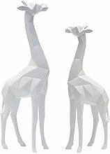 Polygon Style Giraffe Form Ornamente Skulptur
