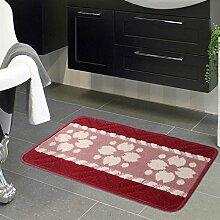Polypropylen Teppich Wohnzimmer Eingang Tür Türmatten Küche Fußpolster Badezimmer Rutschfeste Matte , B , 50*80cm