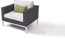 Polyrattan Edelstahl Loungemöbel Sessel in