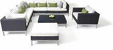 Polyrattan Edelstahl Sitzgruppe Big Monaco -