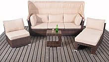 Polyrattan Gartenlounge Sonneninsel rattan Lounge
