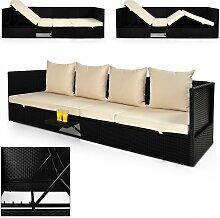 Polyrattan Gartenmöbel Lounge 200x60 cm mit