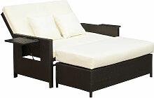 ® Polyrattan Lounge-Sofa Gartensofa Set 2-Sitzer