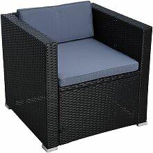 Polyrattan Loungesessel Gartensessel Rattan Sessel