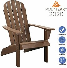 Polyteak Adirondack Stuhl aus Polyteak-Kunstholz,