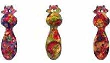 Pomme Pidou Geschirrtuchhalter aus Keramik, Kuh