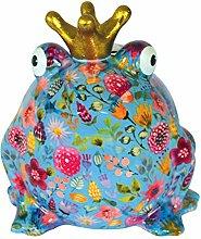 Pomme Pidou Spardose Froschkönig blau große