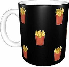 Pommes Frites Kartoffel Muster White Ceramic Mug