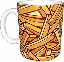 Pommes Frites Muster White Ceramic Mug Office
