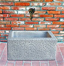 pompidu-living Brunnenschale H 29 Farbe Weißantik